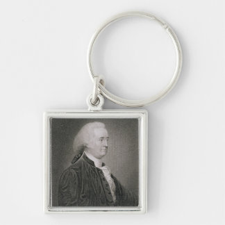 John Rutledge (1739-1800), engraved by G.F. Storm Silver-Colored Square Keychain