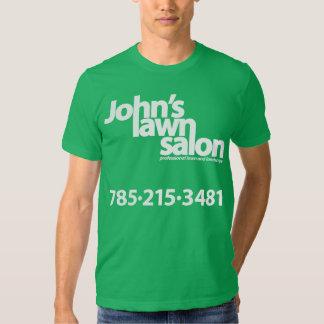 John's Lawn Salon working shirt. T Shirt