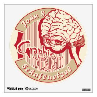 John S. Schafluetzel Graphic Design logo Wall Decal