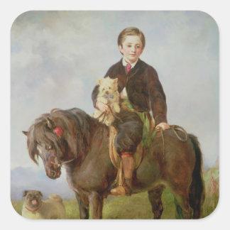 John Samuel Bradford as a boy Square Sticker
