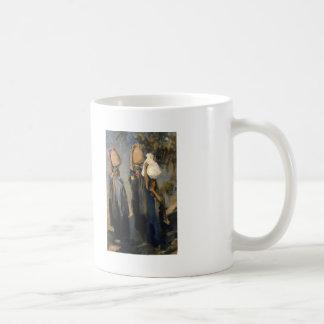 John Sargent- Bedouin Women Carrying Water Jars Classic White Coffee Mug