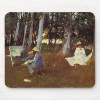 John Sargent- Claude Monet Painting Edge of a Wood Mouse Pad