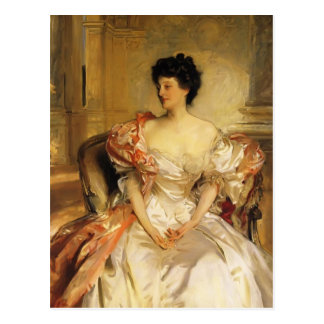 John Sargent- Cora, Countess of Strafford Postcard