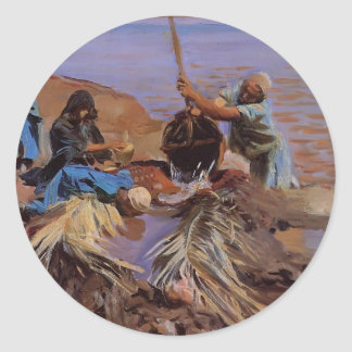 John Sargent-Egyptians Raising Water from the Nile Classic Round Sticker