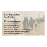 John Sargent- Fishing for Oysters at Cancale Double-Sided Standard Business Cards (Pack Of 100)