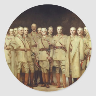 John Sargent- General Officers of World War I Classic Round Sticker