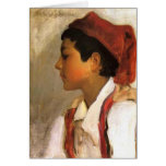 John Sargent- Head of a Neapolitan Boy in Profile Card