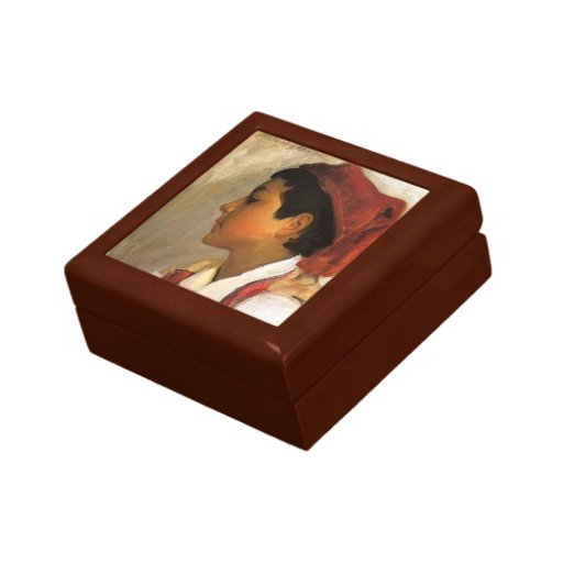 John Sargent- Head of a Neapolitan Boy in Profile Trinket Box