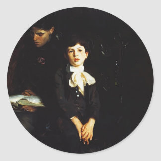 John Sargent- Homer Saint Gaudens and His Mother Classic Round Sticker