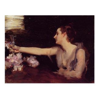 John Sargent- Madame Gautreau Drinking a Toast Postcard