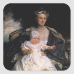 John Sargent- Mrs. Henry Phipps and Her Granson Stickers