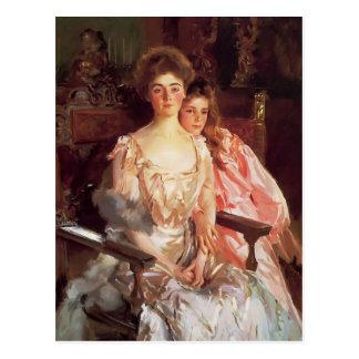 John Sargent-MrsFiske Warren & her Daughter Rachel Postcard
