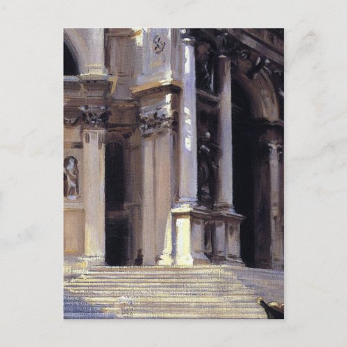 JOHN SARGENT Santa Maria della Salute Venice Italy Invitation Postcard