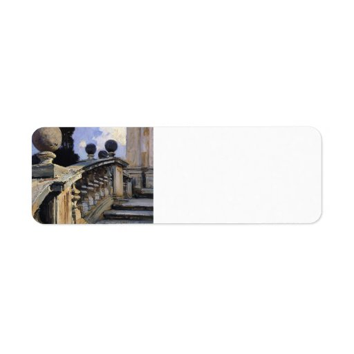 John Sargent- The Steps of the Church Return Address Label