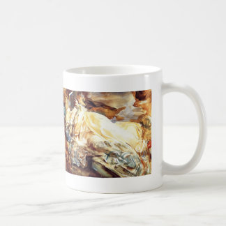 John Sargent Woman Reading in a Cashmere Shawl Coffee Mug