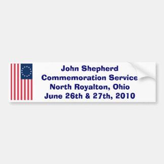 John Sheperd Commemoration ... Car Bumper Sticker