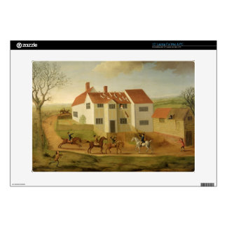 John Sidey and his Hounds at a Farmhouse near Hadl Laptop Decals