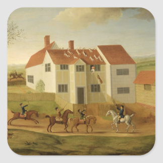 John Sidey and his Hounds at a Farmhouse near Hadl Square Sticker
