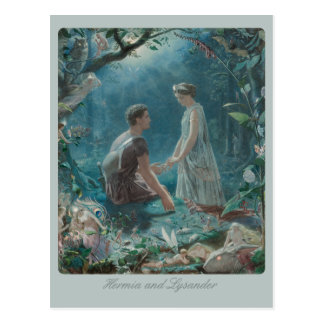 John Simmons Hermia and Lysander Midsummer CC0749 Postcard
