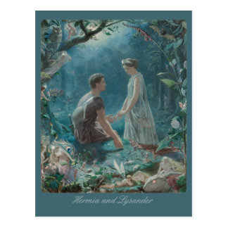 John Simmons Hermia and Lysander Midsummer CC0751 Postcard