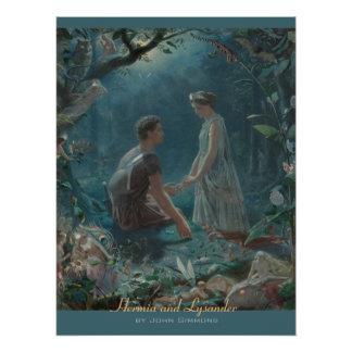 John Simmons Hermia and Lysander Midsummer CC0754 Poster