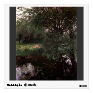 John Singer Sargent- A Backwater at Wargrave Room Stickers