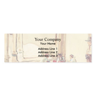 John Singer Sargent- A Spanish Barracks Double-Sided Mini Business Cards (Pack Of 20)