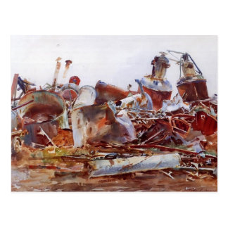 John Singer Sargent- A Wrecked Sugar Refinery Post Card