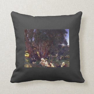 John Singer Sargent- Albanian Olive Pickers Throw Pillow