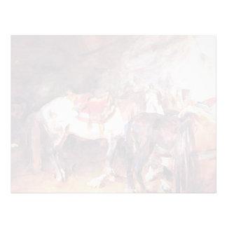 John Singer Sargent- Arab Stable Letterhead Design