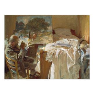 John Singer Sargent - artista en su estudio Fotografía