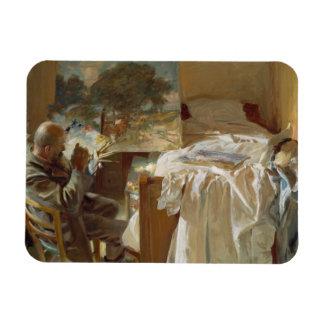 John Singer Sargent - artista en su estudio Imanes Flexibles