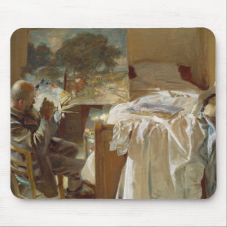 John Singer Sargent - artista en su estudio Mouse Pad