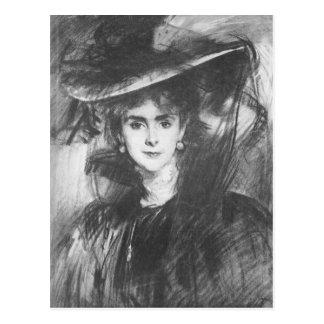 John Singer Sargent - Baroness de Meyer Postcard