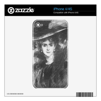 John Singer Sargent - Baroness de Meyer Decals For iPhone 4