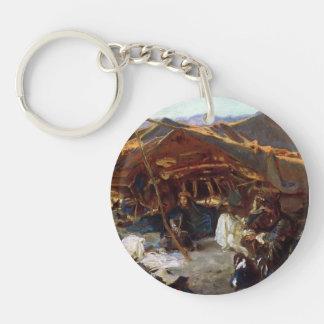 John Singer Sargent- Bedouin Encampment Single-Sided Round Acrylic Keychain