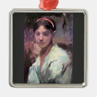John Singer Sargent - cabeza de un chica de Capri Ornamentos De Reyes