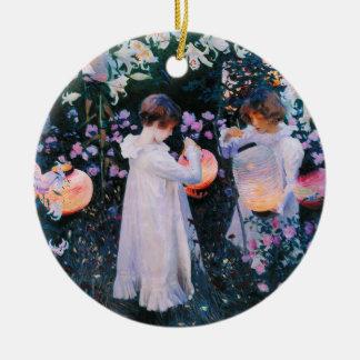 John Singer Sargent Carnation Lily Lily Rose Ceramic Ornament