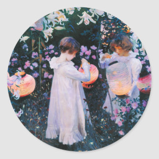 John Singer Sargent Carnation Lily Lily Rose Classic Round Sticker