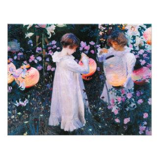 John Singer Sargent Carnation Lily Lily Rose Invite