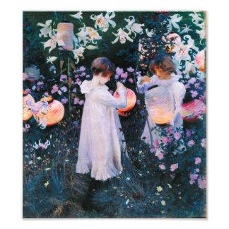 John Singer Sargent Carnation Lily Lily Rose Photo Print