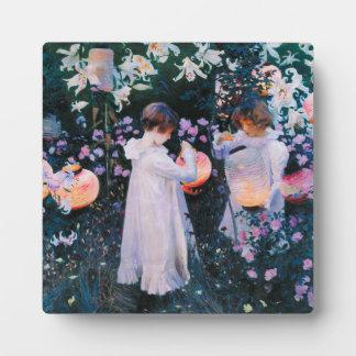 John Singer Sargent Carnation Lily Lily Rose Display Plaques