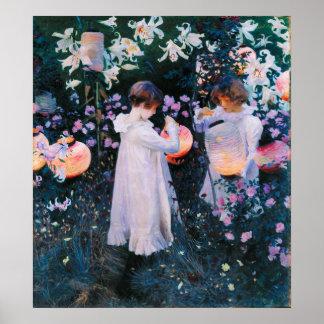 John Singer Sargent Carnation Lily Lily Rose Print