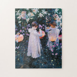 John Singer Sargent Carnation Lily Lily Rose Jigsaw Puzzle