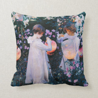 John Singer Sargent Carnation Lily Lily Rose Throw Pillow