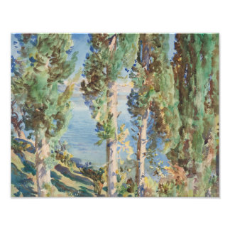 John Singer Sargent - Corfu - Cypresses Photo Print