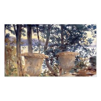 John Singer Sargent: Corfú la terraza Plantillas De Tarjetas Personales