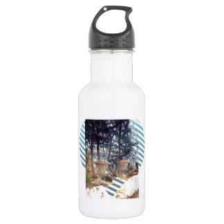 John Singer Sargent: Corfu The Terrace Water Bottle