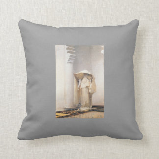 John Singer Sargent- Fumee d'Ambre Gris Throw Pillow