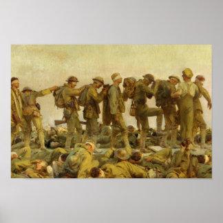 John Singer Sargent - Gassed Poster